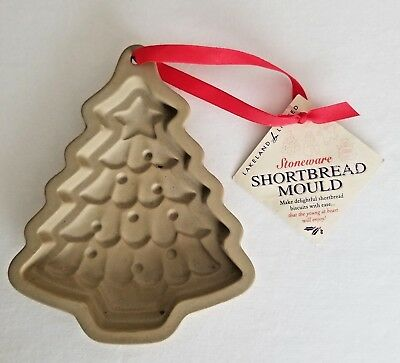 Clay Cookie Mold Stoneware Lakeland Shortbread Christmas Tree A2 Ebay
