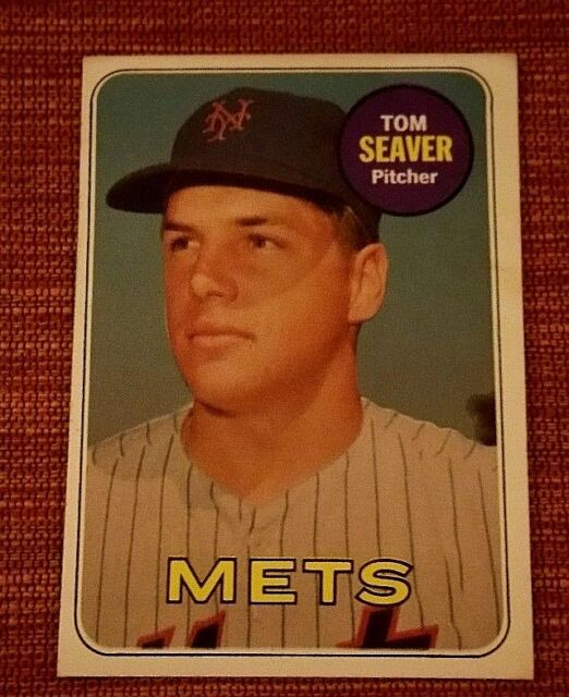 Vintage 1969 Topps Tom Seaver #480 New York Mets Baseball Card