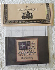 Told in A Garden The Quilting Amish Cross Stitch Pattern Chart New in Package