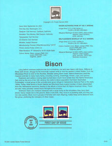 #0141 21c Bison Stamps #3467/3468 Souvenir Page