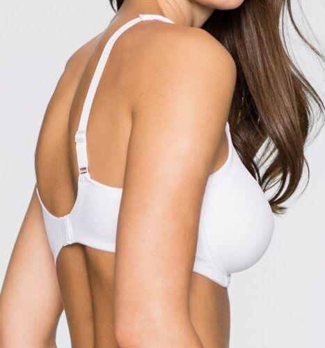 T-Shirt Soutien-gorge 105 H blanc avec arceau de manière transparente mousseline opaque