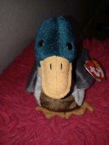ty rare and retired beanie baby JAKE the mallard drake duck never handled in box