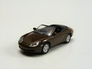 Porsche-911-Cabrio-Braun-de-Tarjeta-Chapa-Schuco-2693213-Nuevo-en-Emb-orig-1-87