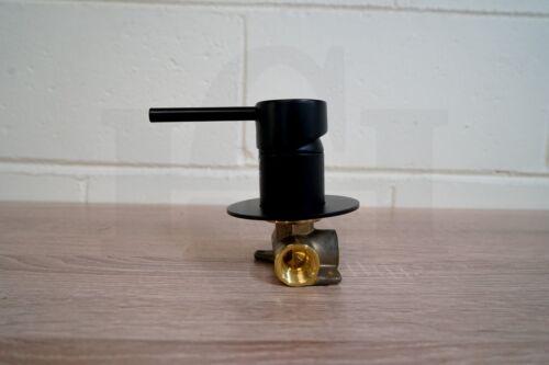 Round Lollipop Matte Black Ultra Slim Small Wall Shower Bath Mixer Premium Grade