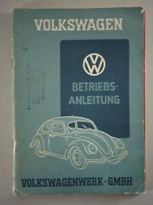 Betriebsanleitung / Handbuch VW Brezelkäfer Typ 11 / 11a Stand 12/1949