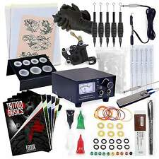 NEW Complete Beginner Tattoo Machine Kit- Gun Equipment Inks Power Supply Needle