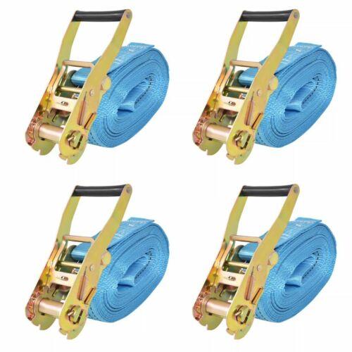 vidaXL 4x Ratchet Tie Down Straps 4 Tonnes 8mx50mm Blue Professional Tool