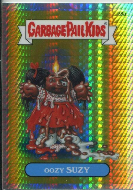 Garbage Pail Kids Chrome Series 1 Refractor Base Card 28a OOZY SUZY