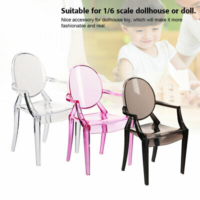 1:6 Doll House Decoration Accessory Miniature Simulation Armchair Plastic #GD