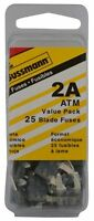 Bussmann (vp/atm-2-rp) Yellow 2 Amp Fast Acting Atm Mini Fuse, (pack Of 25), on sale