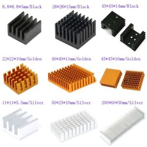 8-8mm-200mm-Aluminum-Heatsink-Heat-Sink-Thermal-Cooling-Fin-Blade-3-Color-CPU-IC