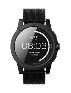 Matrix PowerWatch BlackOps Fitness Tracker Mesh Bracelet Smart Watch 46mm PW03
