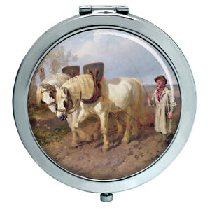 Horse-Harrowing-by-Herring-Compact-Mirror