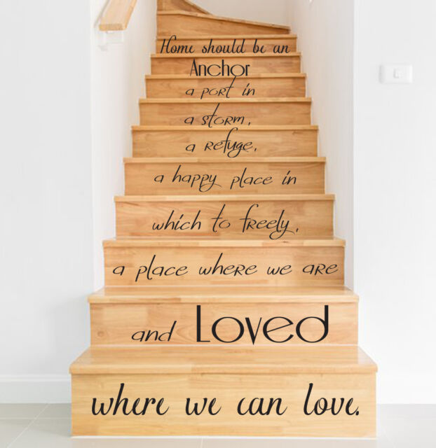 stair quotes stairway quote rest and peace home family home decor