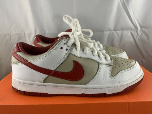 Nike Dunk Low Pro Stone Red 2002 Size Womens 9 Men