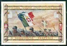 Militari Fascismo VIII Reggimento Fanteria Cenni cartolina XF3676