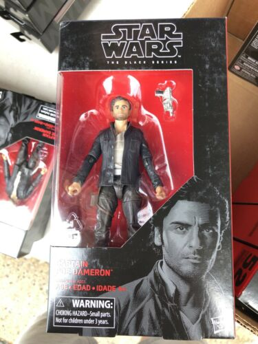 53 Captain Poe Dameron Star Wars the Black Series Mint On Card 6 Inch