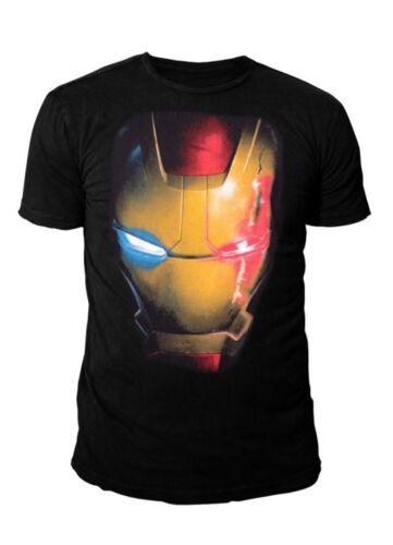 Ultron Mask S-XL Schwarz Marvel Comics Iron Man Herren T-Shirt