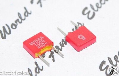 100V 5/% pitch:2.5mm Capacitor 10pcs 1000PF 1nF WIMA FKP02 1000P