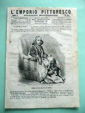 stampa antica print Africa ZOMBE-FATUM REGINA DI MOHELI Comore Madacascar 1868