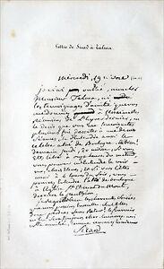 Lettre De Sicard à Talma Sous La Révolution - Gravure Du 19e Siècle (fac-simile) Soyez Astucieux Dans Les Questions D'Argent
