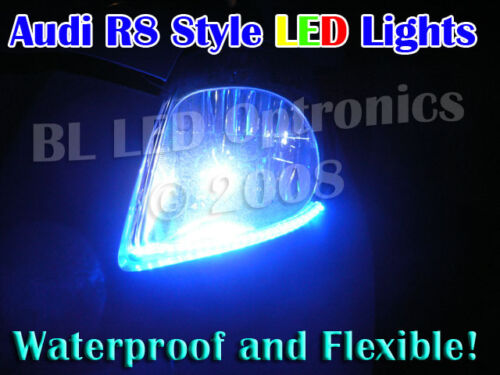 48cm Blue 12V LED Strip DRL Neon Boot Interior Auxillary Waterproof Lighting