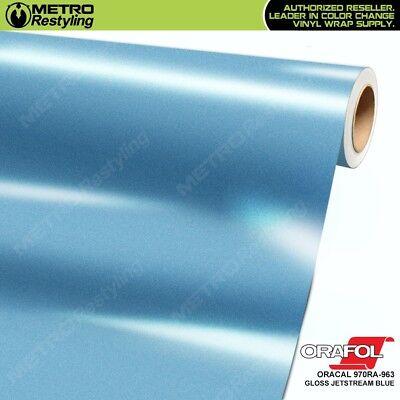 ORACAL 970RA-963 GLOSS JETSTREAM BLUE Vinyl Vehicle Orafol Car Wrap Film Roll