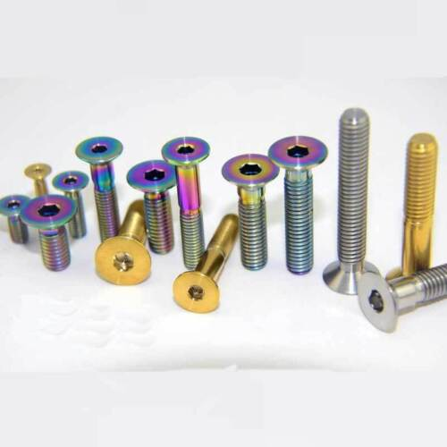 6x Titanium Countersunk M5 x10//12//14//15//20//25//35mm Hexagon Socket Screws Bolts