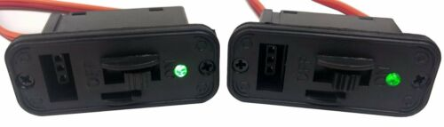 2 Pack #1061 Apex RC Products JR Style HD On//Off Switches W//LED Charge Port