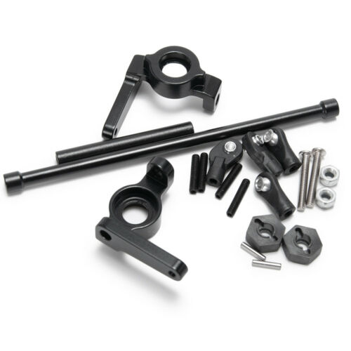 Front Steering Knckles Rear Axle Adapters für 1//10 RC SCX10 Snow Track Wheels