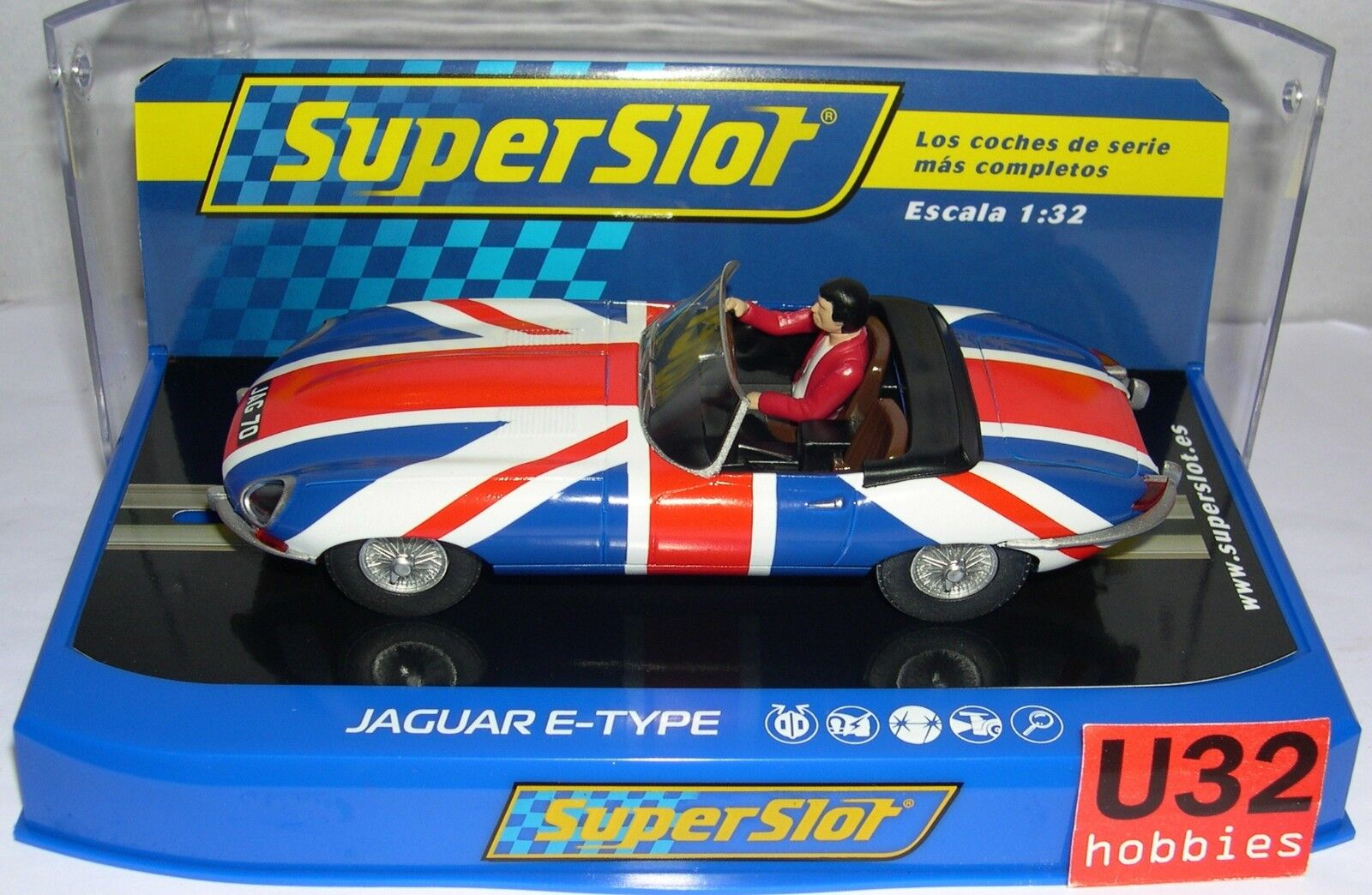 BESTELLUNG H3878 JAGUAR E-TYPE UNION KLINKENSTECKER SCALEXTRIC UK MB