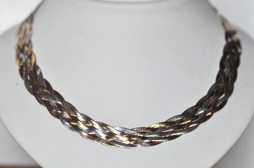 Echt 925 Sterling Silber Armband 6 reihig geflochten 18cm Nr 50
