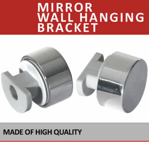 Image Is Loading 4x Chrome Mirror Wall Hanging Fixing Kit Frameless