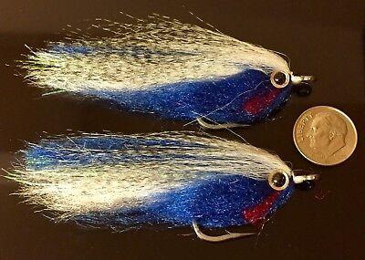 SALTWATER STREAMER bf4 FLY FISH MUSKY 2 EPOXY HEAD BAITFISH FLIES PIKE