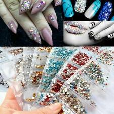 1680pcs Nail Art Rhinestones Glitter Diamonds Crystal Gems 3D Tips Decoration Sd