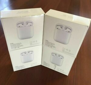 New Apple Airpods 2nd Generation With Model Mv7n2am A Or Mrxj2am A Ebay