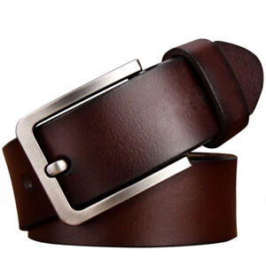 Mens-Belt-Genuine-Leather-Belts-For-Dress-amp-Jeans-Big-amp-Tall-Wasit-Size-28-034-64-034