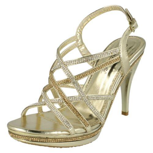 Ladies Anne Michelle High Heeled Evening /'Sandals/'