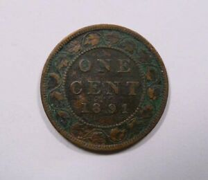 Canada-Queen-Victoria-Large-One-Cent-1891-SD-LL-RARE