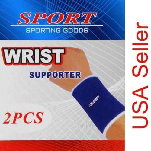2 pc Sport WRIST BAND Supporter Strap Stretch Wrap Athletic Brace Sweatband S003