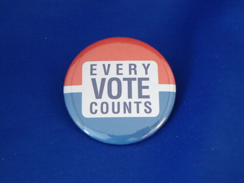 "/""EVERY VOTE COUNTS/""  BUTTON  pin pinback  politics political activism BLUE WAVE"