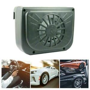 Solar Power Car Window Fan Cooler Auto Ventilator Vehicle NEW Vent Air G6O7