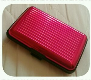 Aluminium Pink Security Credit Debit Card Holder Wallet Stylish RFID Protection