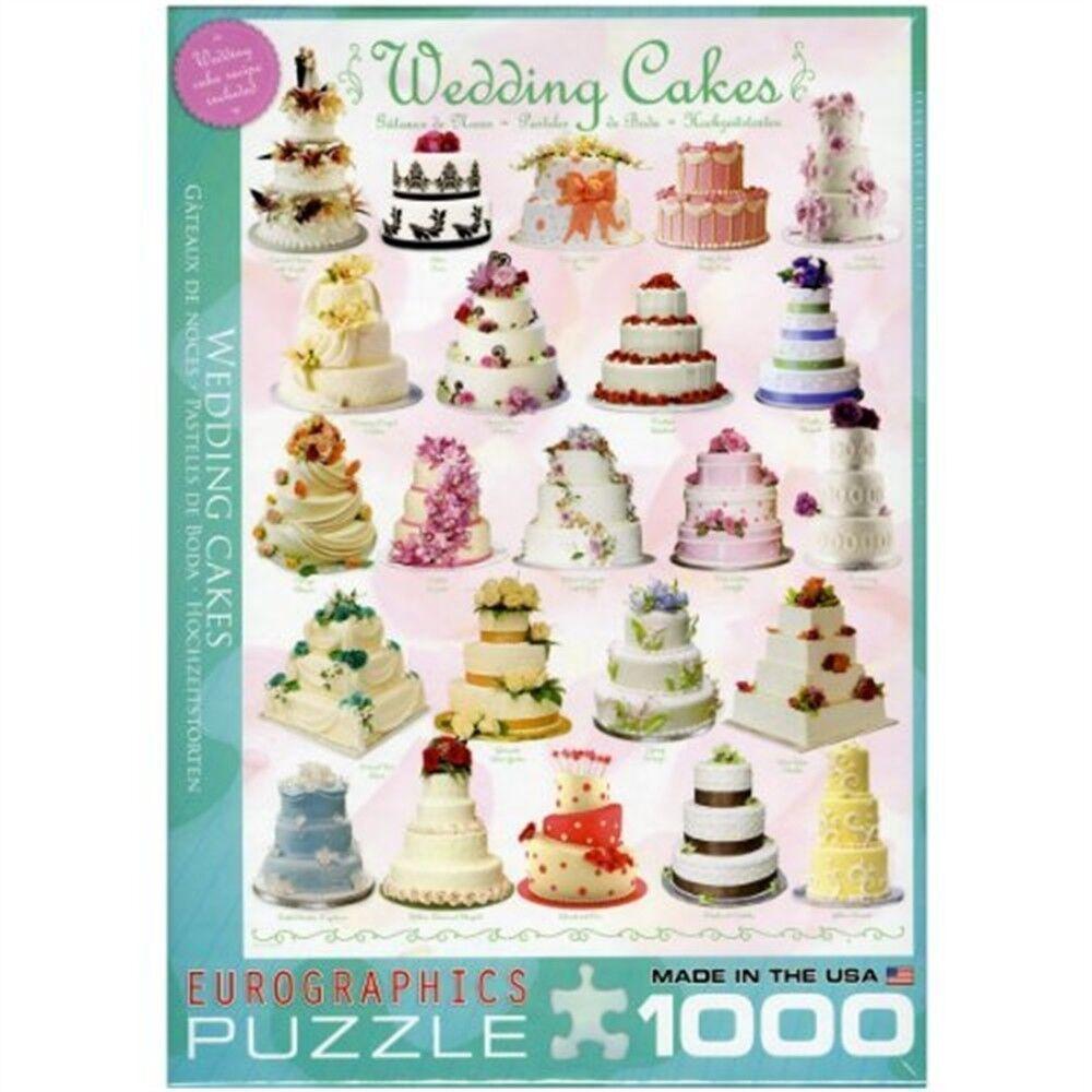 Eurographics Puzzle 1000pc -wedding Cakes - Wedding Pieces Eg60000434