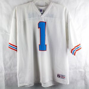 competitive price 1aeb4 9a9d7 Details about Houston Oilers Warren moon #1 white XLarge Jersey and Shirt