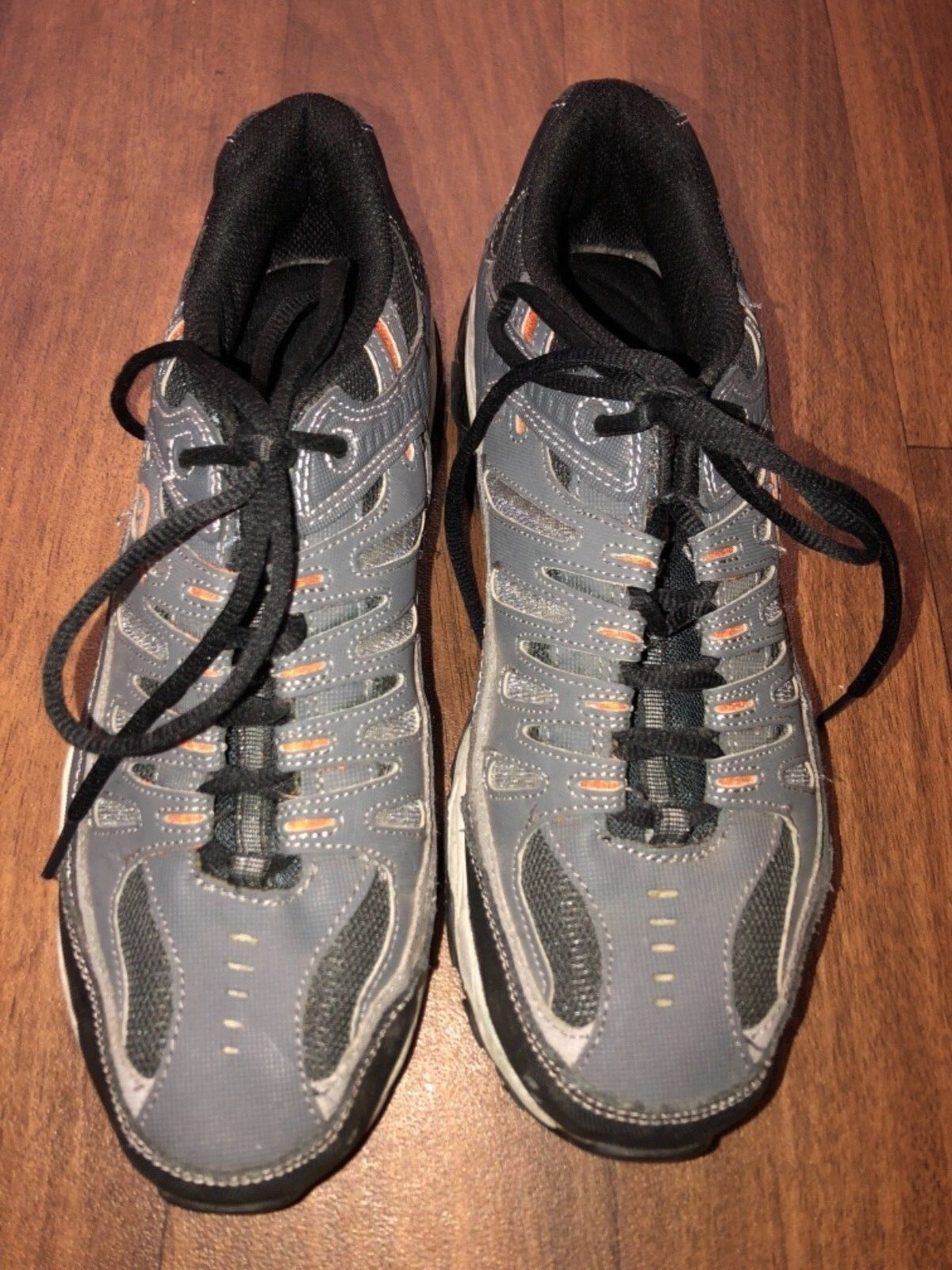 Skechers Sport Afterburn Charcoal Gray/Orange Mens Athletic Shoes SN 50125 Sz 10 Casual wild