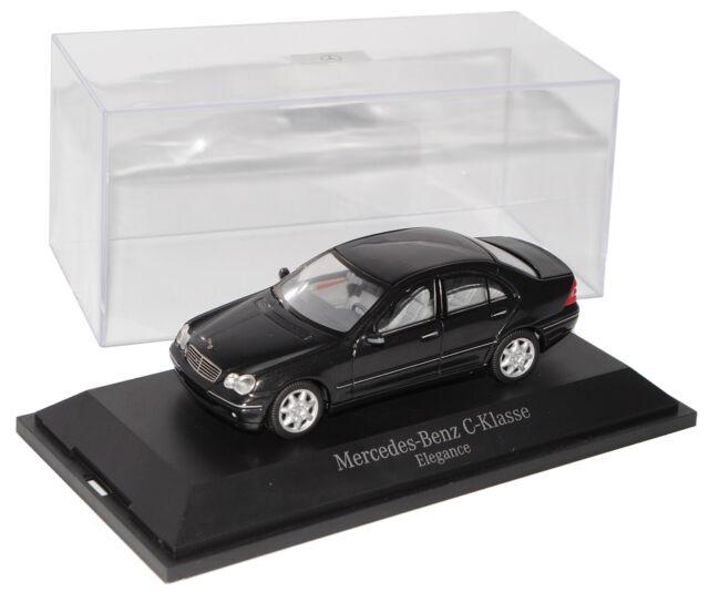 Mercedes-Benz C-klasse W203 C55 AMG Limousine Schwarz 2000-2007 1//43 Spark Mod..