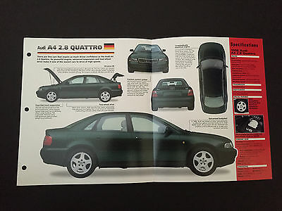 1998//1999 AUDI TT SPEC SHEET//Brochure//Prospekt:QUATTRO