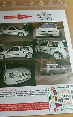 RENAULT CLIO S1600 CECCATO RALLY BASSAN 2016 1//43 SCALE DECALS ONLY NO MODEL CAR