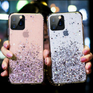 Bling-Glitter-Clear-Gel-Soft-Phone-Case-Cover-iPhone-11-Pro-Max-6s-7-Plus-8-Xr-X